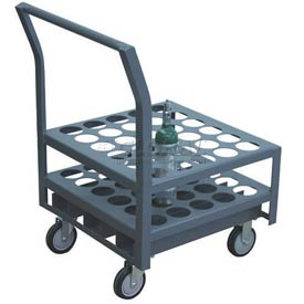 """Jamco Oxygen & Medical Cylinder Cart KK030 30 Type M4, M6, B Tanks 5"""" Thermorubber Casters"""