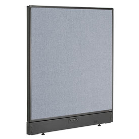 "Interion™ Electric Office Cubicle Partition Panel, 36-1/4""W x 46""H, Blue"