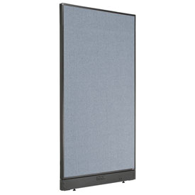 "Electric Office Partition Panel, 36-1/4""W x 64""H, Blue"