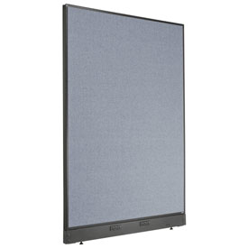 "Electric Office Partition Panel, 48-1/4""W x 64""H, Blue"
