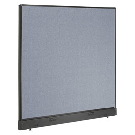 "Interion™ Electric Office Cubicle Partition Panel, 60-1/4""W x 46""H, Blue"