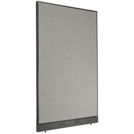 "Electric Office Partition Panel, 48-1/4""W x 76""H, Gray"