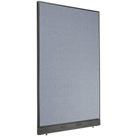 "Electric Office Partition Panel, 48-1/4""W x 76""H, Blue"