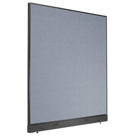 "Electric Office Partition Panel, 60-1/4""W x 64""H, Blue"