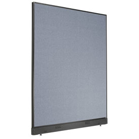 "Interion™ Electric Office Partition Panel, 60-1/4""W x 76""H, Blue"