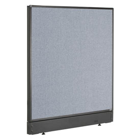 "Interion™ Office Cubicle Partition Panel with Pass-Thru Cable, 36-1/4""W x 46""H, Blue"