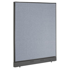 "Interion™ Non-Electric Office Cubicle Partition Panel with Raceway, 48-1/4""W x 46""H, Blue"