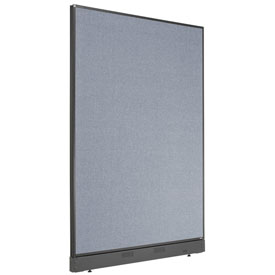 """Non-Electric Office Partition Panel with Raceway, 48-1/4""""W x 64""""H, Blue"""