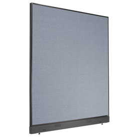 """Interion™ Non-Electric Office Cubicle Partition Panel with Raceway, 60-1/4""""W x 64""""H, Blue"""