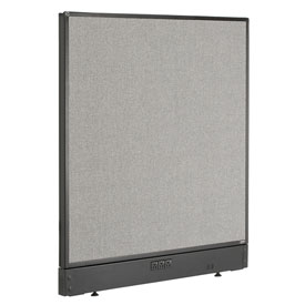 """Electric Office Partition Panel, 36-1/4""""W x 46""""H, Gray"""