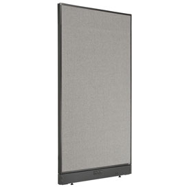 "Interion™ Electric Office Cubicle Partition Panel, 36-1/4""W x 64""H, Gray"