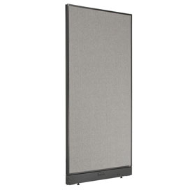 "Electric Office Partition Panel, 36-1/4""W x 76""H, Gray"