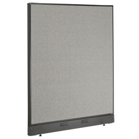 "Electric Office Partition Panel, 48-1/4""W x 46""H, Gray"