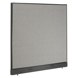"Interion™ Electric Office Cubicle Partition Panel, 60-1/4""W x 46""H, Gray"