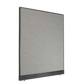 "Electric Office Partition Panel, 60-1/4""W x 64""H, Gray"