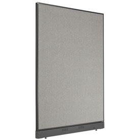 "Office Partition Panel with Pass-Thru Cable, 48-1/4""W x 64""H, Gray"