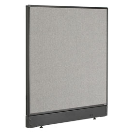 "Non-Electric Office Partition Panel with Raceway, 36-1/4""W x 46""H, Gray"