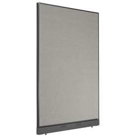 "Non-Electric Office Partition Panel with Raceway, 48-1/4""W x 76""H, Gray"