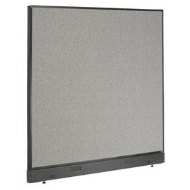 "Interion™ Non-Electric Office Cubicle Partition Panel with Raceway, 60-1/4""W x 46""H, Gray"