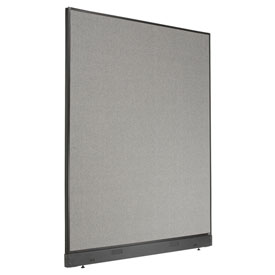 "Interion™ Non-Electric Office Cubicle Partition Panel with Raceway, 60-1/4""W x 76""H, Gray"