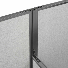 "Interion™ High Low Three Way Kit For Two 64"" High Panel"