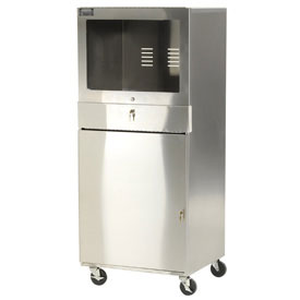 Stainless Steel Mobile Computer Cabinet
