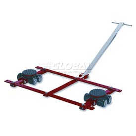 GKS Perfekt® TL6 Tandem Roller Dolly Swivel Plates, Adjustable Width Frame 13,200 Lb. Cap.