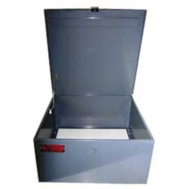 Steel Cabinet for Worksman Mover Industrial Tricycles w/ Lockable Hasp, 22x22x11