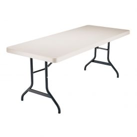 "Lifetime® Portable Folding Table 72"" - Almond (Pallet Pack of 22) - Pkg Qty 22"