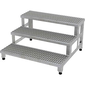 "Vestil ASP-36-3-SS Adjustable Height Step Stand, Stainless Steel 36""W x 36""L"