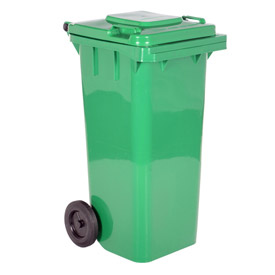 mobile trash can 32 gallon green