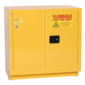 Eagle Compact Flammable Cabinet - Manual Close Door 22 Gallon