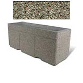 "Concrete Outdoor Planter w/Forklift Knockouts, 72""Lx24""W x 30""H Rectangle Gray Limestone"
