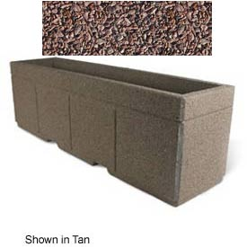 "Concrete Outdoor Planter w/Forklift Knockouts, 96""Lx24""W x 30""H Rectangle Red Quartzite"