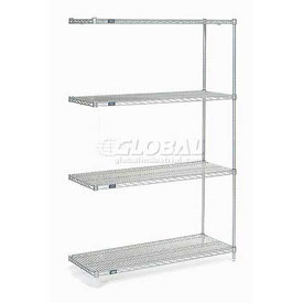 "Nexel Poly-Z-Brite Wire Shelving Add-On 42""W x 18""D x 54""H"