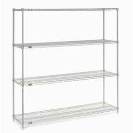 "54"" H Nexel Chrome Wire Shelving - 72"" W x 21"" D"