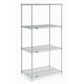 "74"" H Nexel Chrome Wire Shelving - 36"" W x 21"" D"