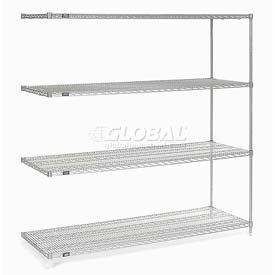 "86"" H Nexel Chrome Wire Shelving Add-On - 42"" W x 21"" D"