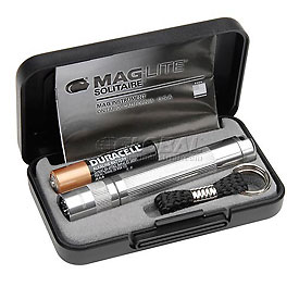 Maglite® K3A102 1 Cell AAA Solitaire® Flashlight Silver