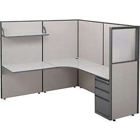 "Add-On Station For Single Radius Corner Workstation, 75""W x 75""D x 66""H"