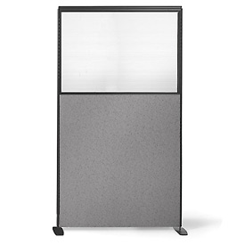 "66"" H X 36"" W Partial Plexiglass Freestanding Office Partition Panel"
