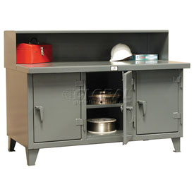 """Strong Hold Multi-Shift Workbench - 108""""W x 30""""D x 34""""H"""