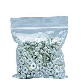 """Recloseable Clear Poly Bag 5"""" x 5"""" 2 Mil 1,000 Pack"""