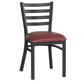 "Ladder Back Chair 16-1/2""W X 15""D X 30-1/2""H - Red - Pkg Qty 2"