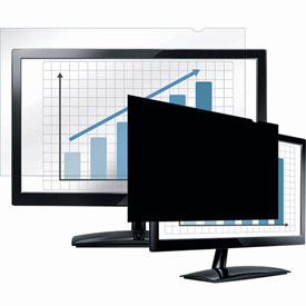 "Fellowes® 4801001 PrivaScreen™ Blackout Privacy Filter for 17"" Widescreen Monitors - Pkg Qty 4"