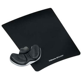 Buy Fellowes 9180301 Gliding Palm Support with Microban Protection, Black Package Count 4