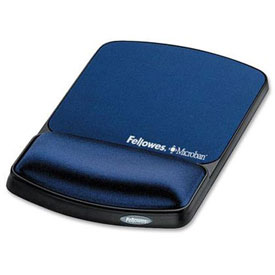 Fellowes® 9175401 Gel Wrist Support & Mousepad w/ Microban® Protection, Sapphire - Pkg Qty 4