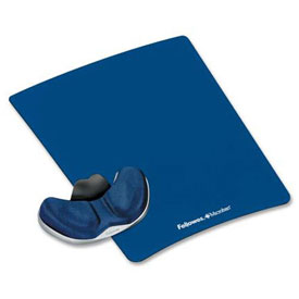 Fellowes® 9180201 Memory Foam Gliding Palm Support with Mouse Pad, Sapphire - Pkg Qty 4