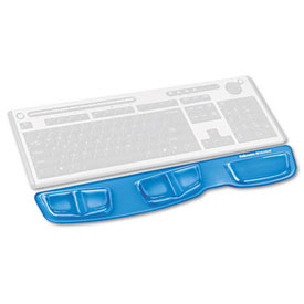 Buy Fellowes 9183101 Keyboard Palm Support with Microban Protection, Blue Package Count 4