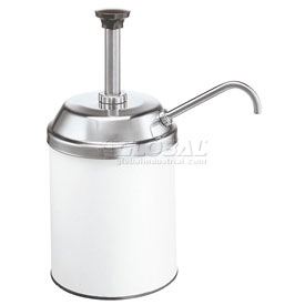 Server Stainless Steel Pump & Lid, Fit #10 Can, Dispenses Thick Condiments